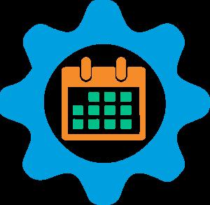 MedScheduling - Calendar inside gear image